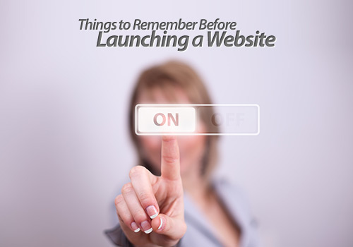 launching a website