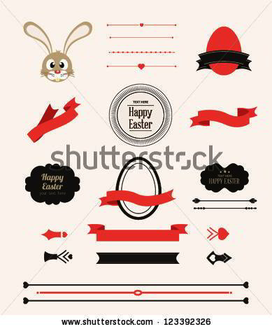 Collection of Labels and vector element with retro vintage styled design