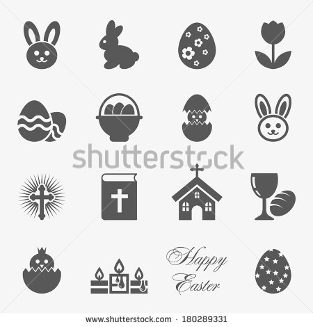 Easter icons, vector