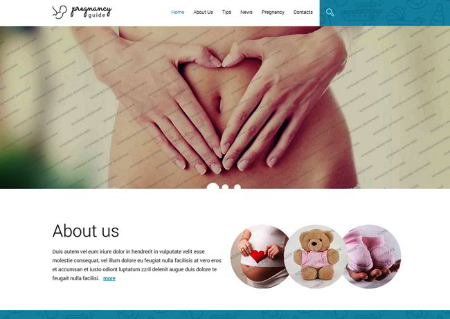 Pregnancy Guide Responsive Web Template