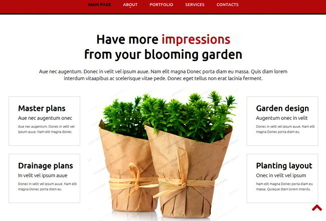 Gardening Responsive Website Template