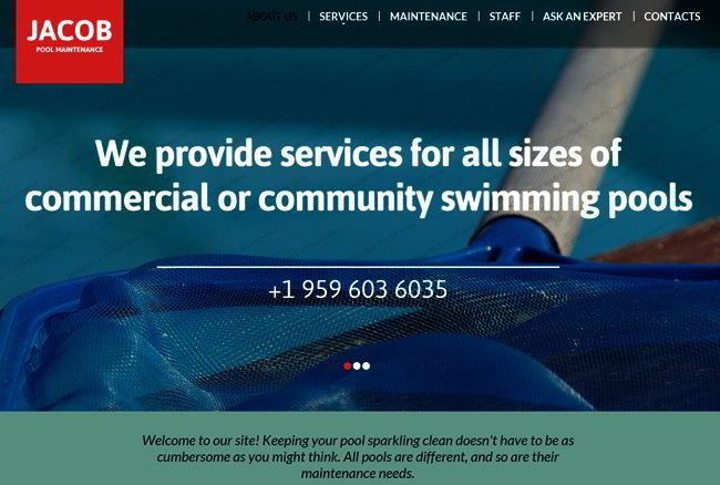 Pool Maintenance Website Template