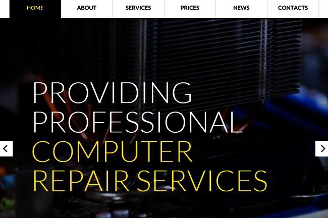 Computer Repair Service Web Template