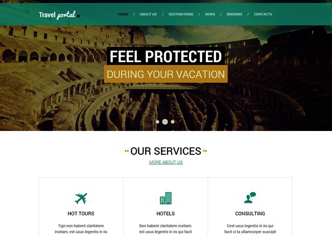 Travel Agency Responsive Web Template