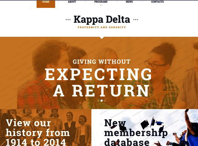 Fraternity Website Template