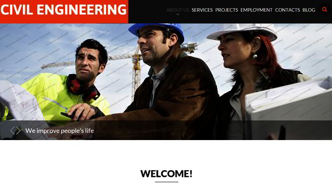 Engineering Company Web Template