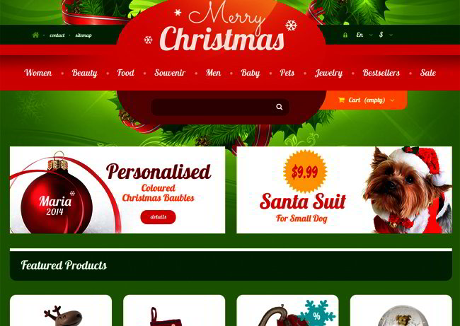 Web Templates for Christmas
