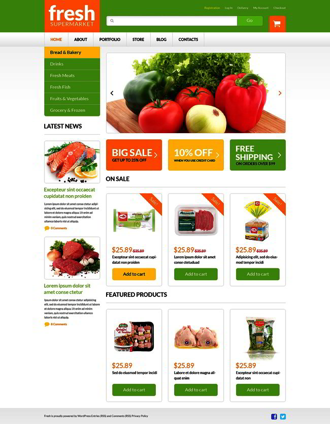Grocery Web Shop WooCommerce Theme