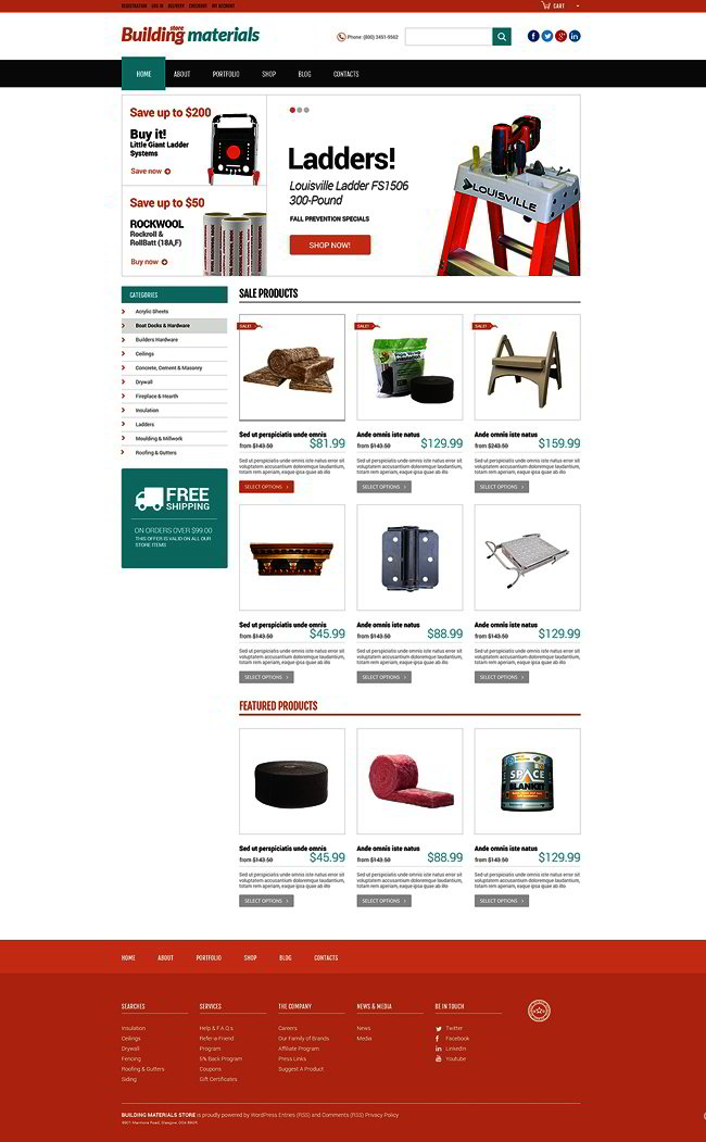 Universal Building Supplies WooCommerce Theme