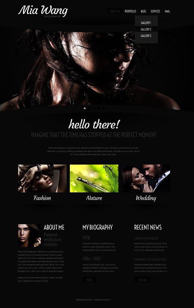 Cherry Photographer Portfolio WordPress Theme