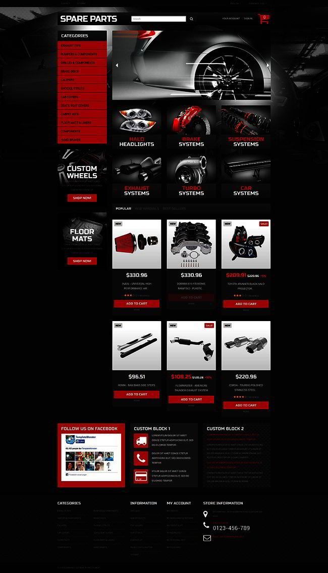 Automobile Replacement Parts PrestaShop Theme