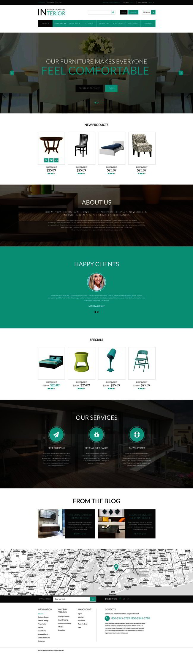 Interior and Furniture Responsive Magento Theme