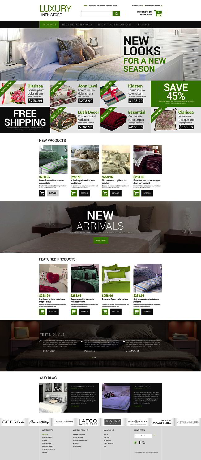 Linen Online Store Magento Theme