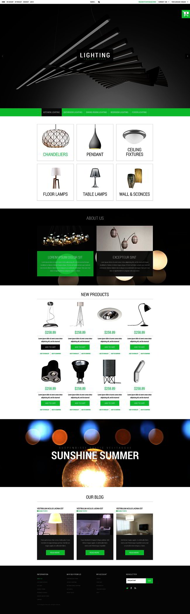 House Lighting Magento Theme