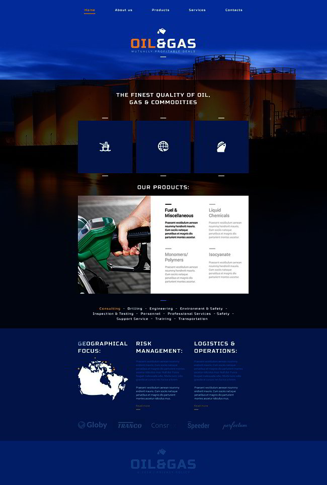 Oil Gas Company Website Template