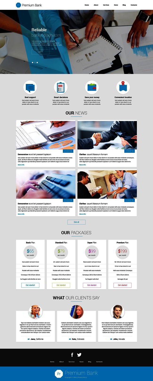 Trustworthy Financial Institutions Joomla Template