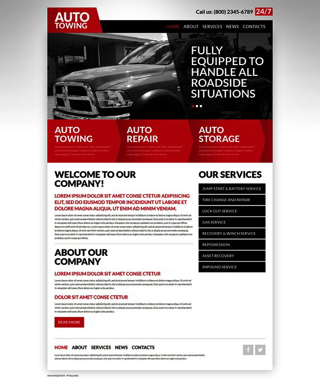 Automobile Towage Joomla Template