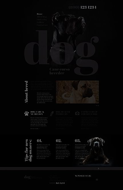 dog breeder website template website templates. Black Bedroom Furniture Sets. Home Design Ideas