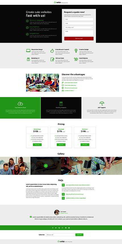 web design landing page template website templates. Black Bedroom Furniture Sets. Home Design Ideas