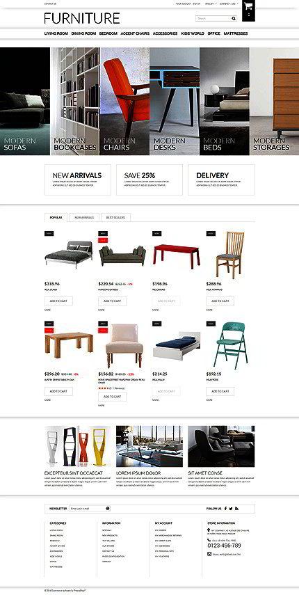Selling furniture online prestashop theme website templates for Websites to sell furniture online