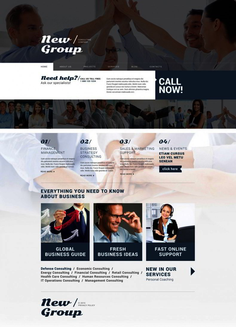 free wordpress theme for consulting firm website templates