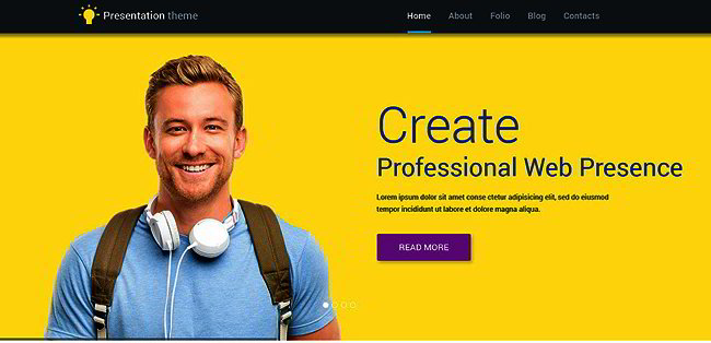 WP theme for web designer