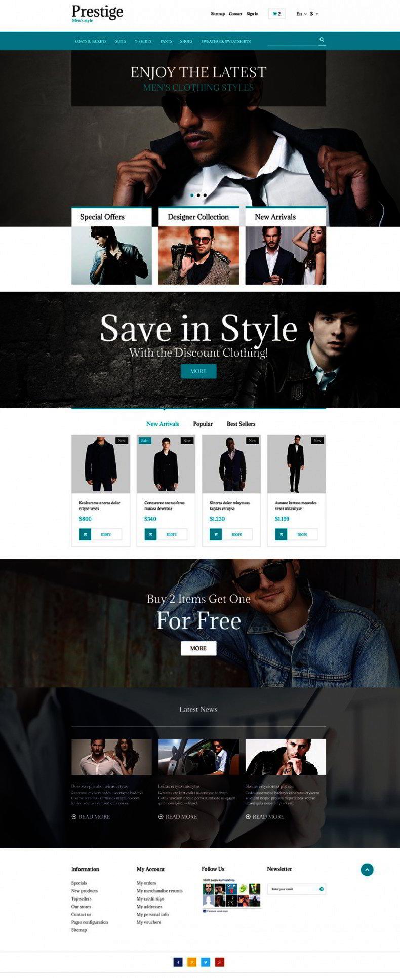 Free prestashop theme for fashion store website templates features premium templates free maxwellsz