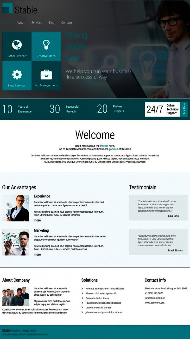 Consulting Firm Free Html Template Website Templates