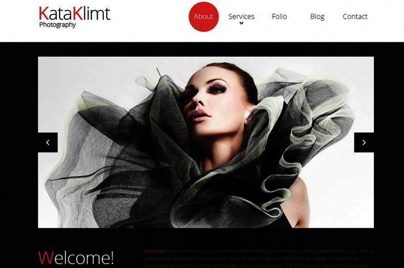 Free Bootstrap Template For Photo Portfolio Website Templates - Photography portfolio website templates free