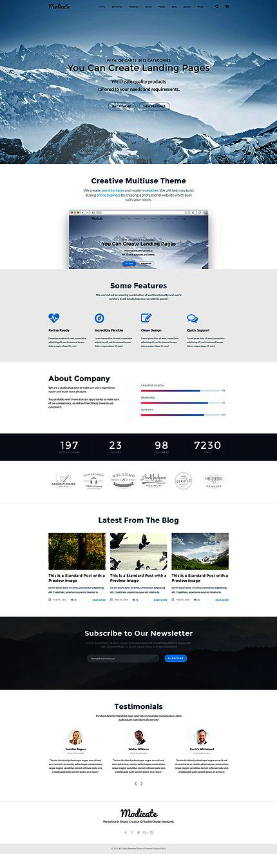 dreamweaver shopping cart templates - modicate multipurpose website template website templates